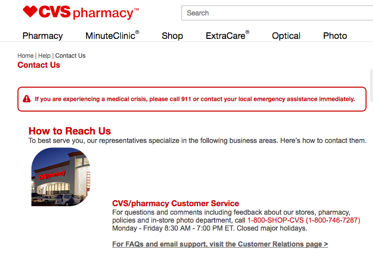 cvs customer service complaints department