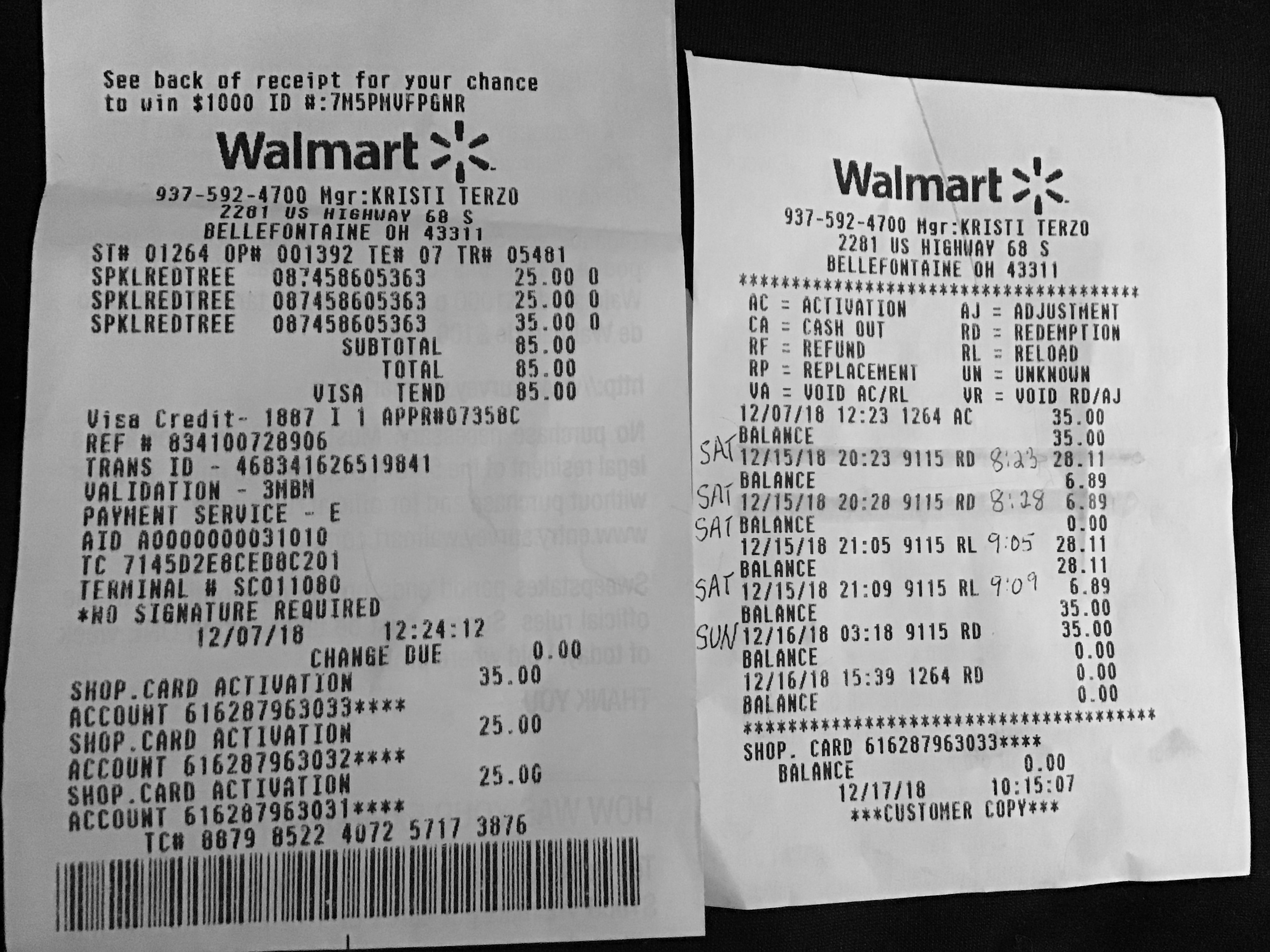I Received No Satisfaction From My Local Walmart Money Was Stolen And Id Like It Back Joanne Wiley