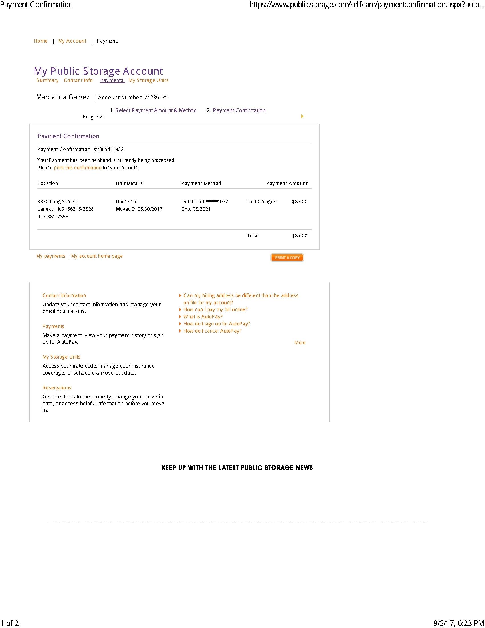 Marcelina Public Storage Complaint 2017 1504742110 Jpg