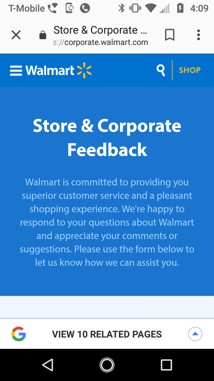 Walmart Corporate Complaints - Number 9 | HissingKitty com
