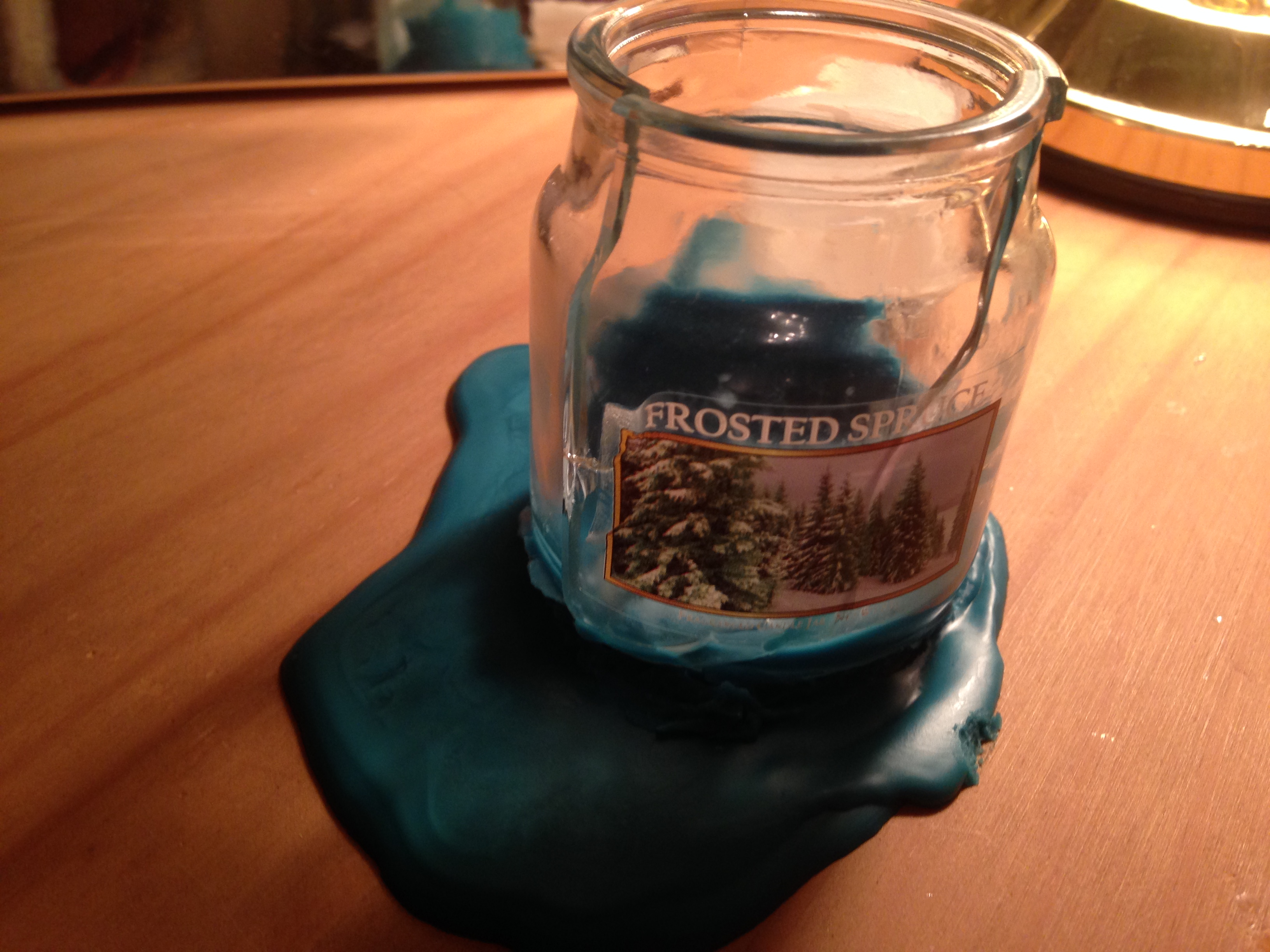 Pack Of Three Candle Jars Code 25409185 When Light Glass Broke And Hot Wax Went Everywhere These Are Dangerous Also Ruined My Table