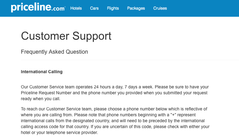 Priceline Customer Service Complaints Department | HissingKitty.com