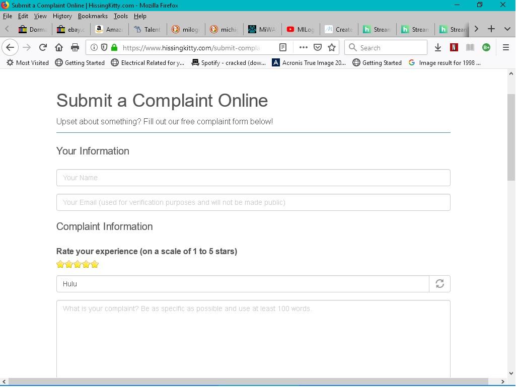 Hulu Customer Service Complaints Department | HissingKitty com