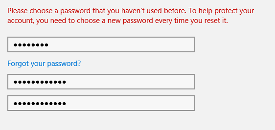 need to make a new password whats so bad about changing back to a password that i remember better and imputing files i dont need and need to