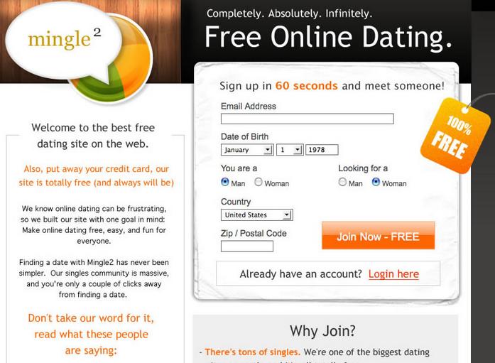 Mingle2.com login